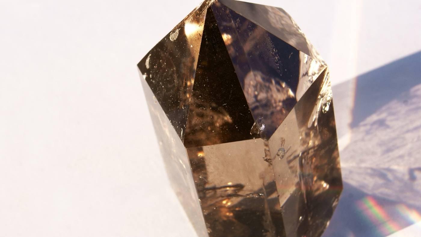 charging crystals under sunlight
